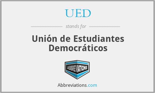 UED - Unión de Estudiantes Democráticos