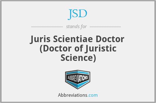 JSD - Juris Scientiae Doctor (Doctor of Juristic Science)