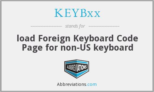 What does KEYBXX stand for?
