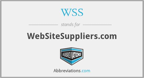 WSS - WebSiteSuppliers.com