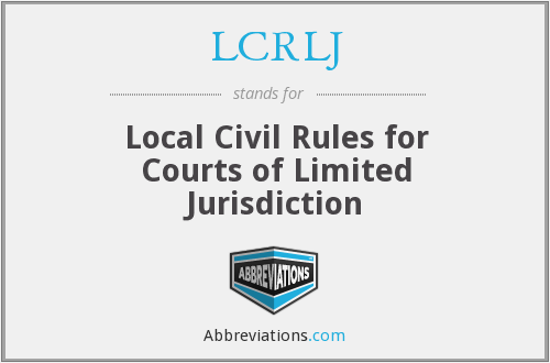 What does LCRLJ stand for?