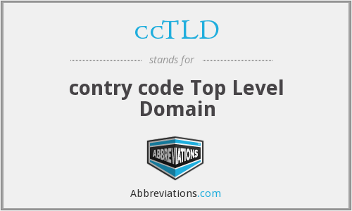 ccTLD - contry code Top Level Domain
