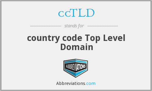 ccTLD - country code Top Level Domain