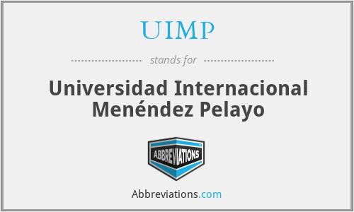 UIMP - Universidad Internacional Menéndez Pelayo