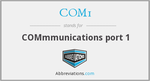 What does COM1 stand for?
