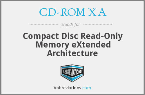 What does CD-ROM XA stand for?