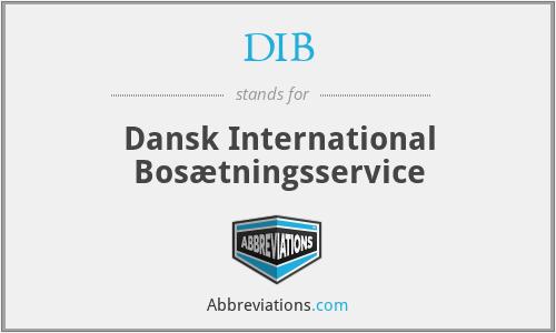 DIB - Dansk International Bosætningsservice