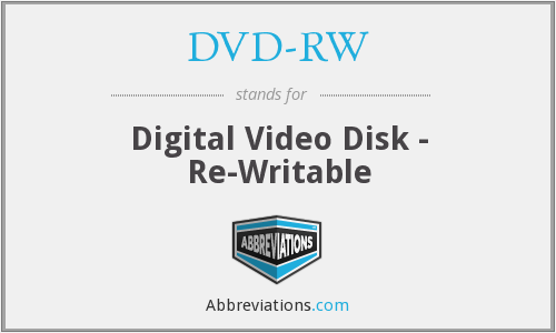 What does DVD-RW stand for?