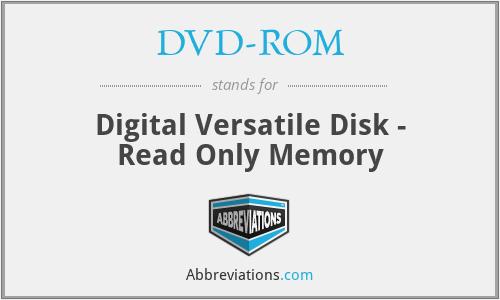 DVD-ROM - Digital Versatile Disk - Read Only Memory