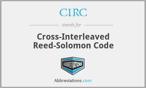 CIRC - Cross-Interleaved Reed-Solomon Code