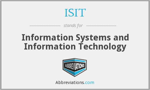 ISIT - Information Systems and Information Technology