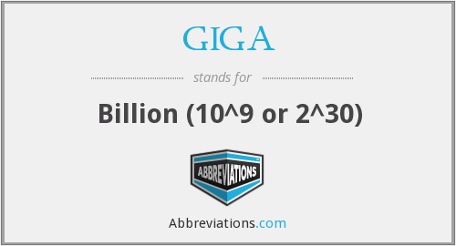 What does GIGA stand for?