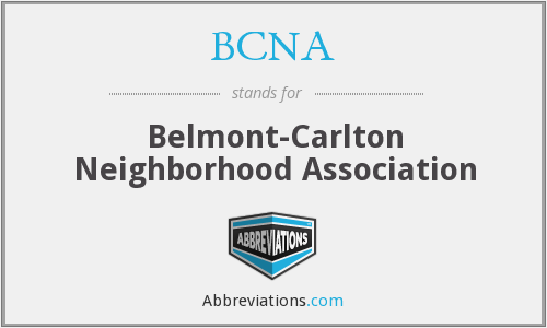 BCNA - Belmont-Carlton Neighborhood Association