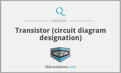 Q - Transistor (circuit diagram designation)