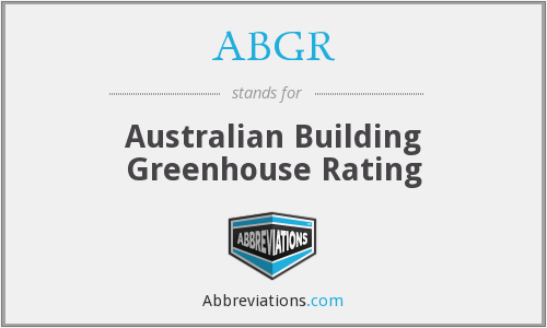 ABGR - Australian Building Greenhouse Rating