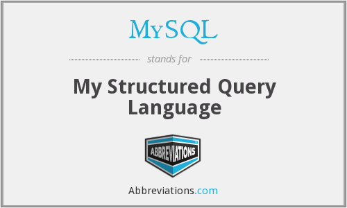 MySQL - My Structured Query Language