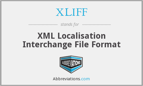 XLIFF - XML Localisation Interchange File Format