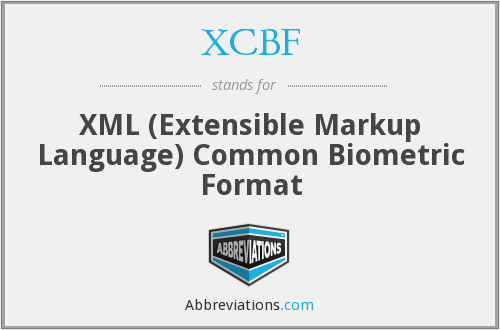 XCBF - XML (Extensible Markup Language) Common Biometric Format