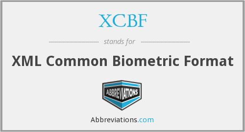 XCBF - XML Common Biometric Format