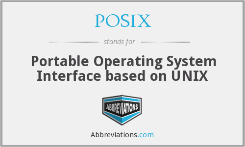 POSIX - Portable Operating System Interface based on UNIX