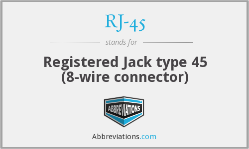 What does RJ-45 stand for?