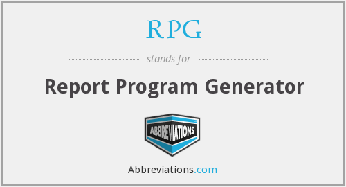 RPG - Report Program Generator