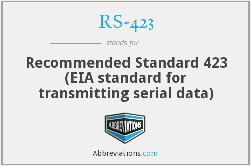 What does RS-423 stand for?