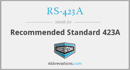 RS-423A - Recommended Standard 423A