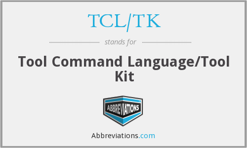What does TCL/TK stand for?