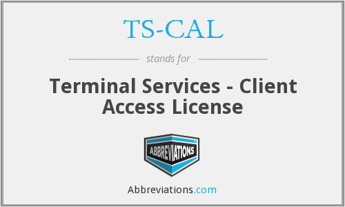 What does TS-CAL stand for?