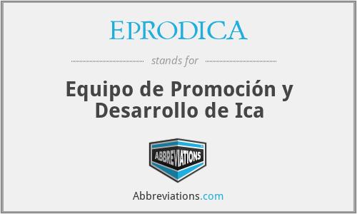 EPRODICA - Equipo de Promoción y Desarrollo de Ica