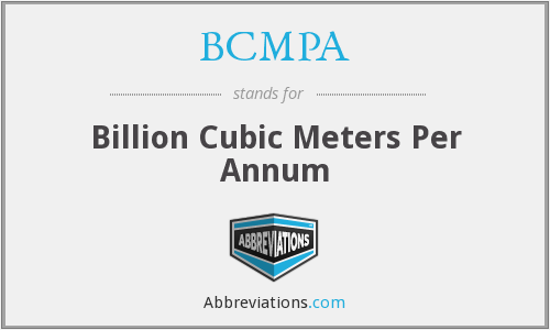 BCMPA - Billion Cubic Meters Per Annum