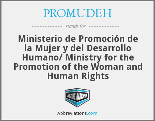 What does PROMUDEH stand for?