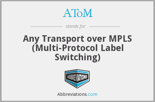 AToM - Any Transport over MPLS (Multi-Protocol Label Switching)