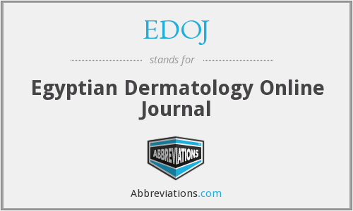EDOJ - Egyptian Dermatology Online Journal