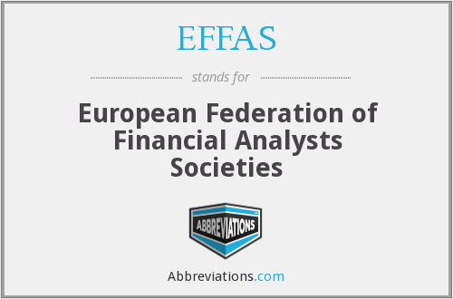 What does EFFAS stand for?
