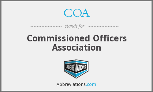 COA - Commissioned Officers Association