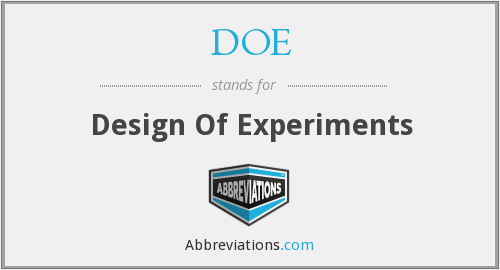 DOE - Design Of Experiments