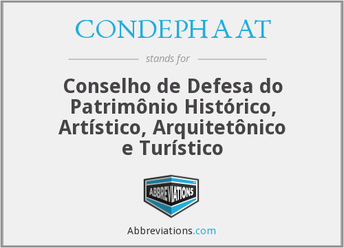 What does CONDEPHAAT stand for?