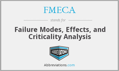FMECA - Failure Modes, Effects, and Criticality Analysis