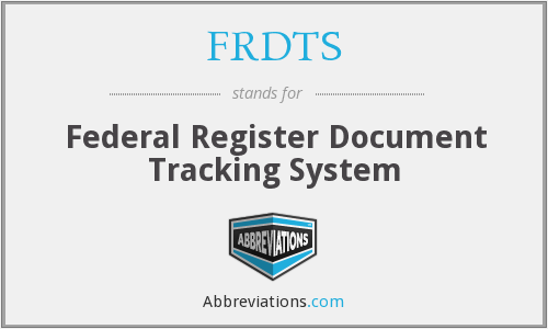 What does FRDTS stand for?