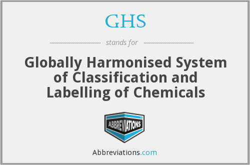 GHS - Globally Harmonised System of Classification and Labelling of Chemicals