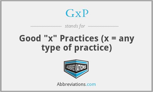 GxP - Good