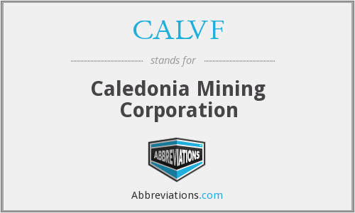What does CALVF stand for?
