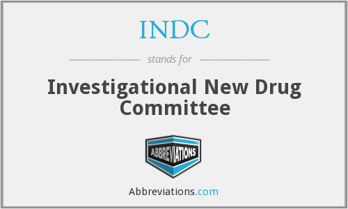 INDC - Investigational New Drug Committee