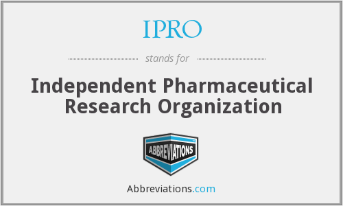 IPRO - Independent Pharmaceutical Research Organization