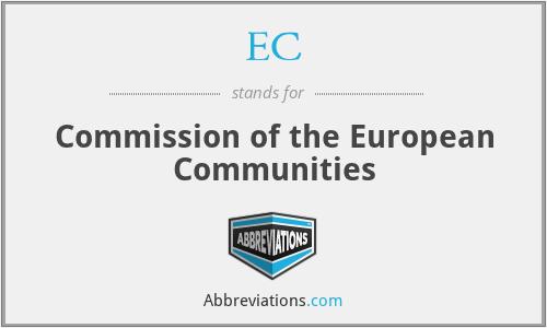 EC - Commission of the European Communities