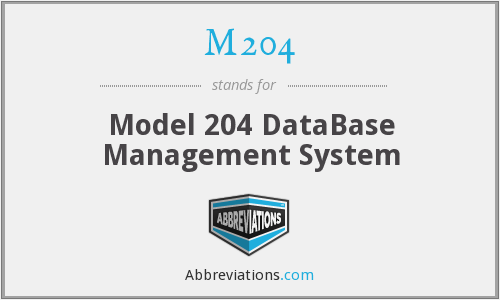 M204 - Model 204 DataBase Management System