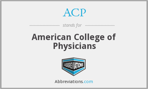 ACP - American College of Physicians