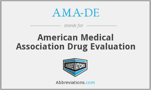 AMA-DE - American Medical Association Drug Evaluation